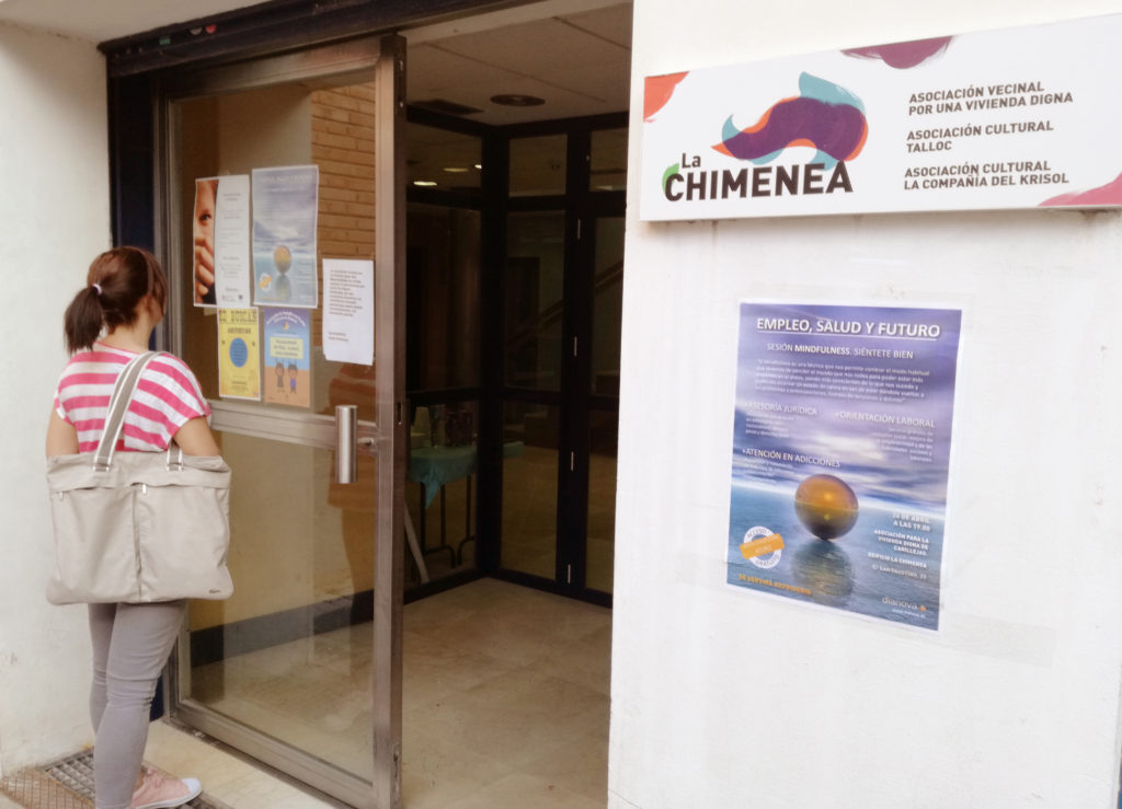 Asistencia de Dianova en La Chimenea